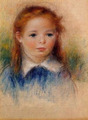 Pierre Auguste Renoir - Portrait Of A Little Girl