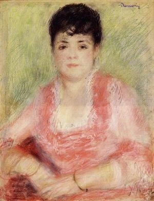 Pierre Auguste Renoir - Portrait Of A Woman In A Red Dress
