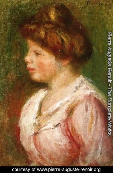 Pierre Auguste Renoir - Portrait Of A Young Woman4