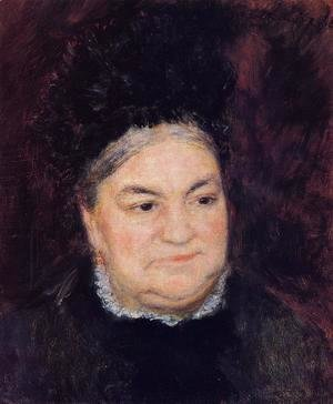 Pierre Auguste Renoir - Portrait Of An Old Woman Aka Madame Le Coeur
