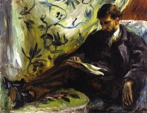Pierre Auguste Renoir - Portrait Of Edmond Maitre Aka The Reader