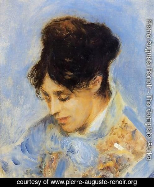 Pierre Auguste Renoir - Portrait Of Madame Claude Monet