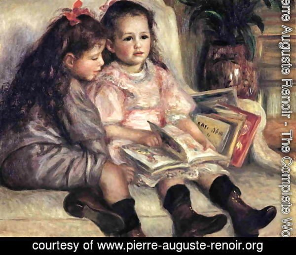 Pierre Auguste Renoir - Portraits Of Two Children