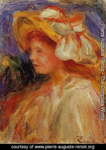 Pierre Auguste Renoir - Profile Of A Young Woman In A Hat