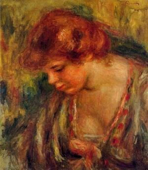 Pierre Auguste Renoir - Profile Of Andre Leaning Over