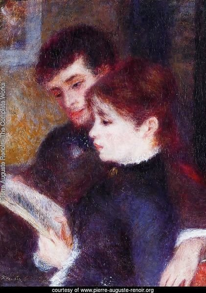 Reading Couple Aka Edmond Renoir And Marguerite Legrand