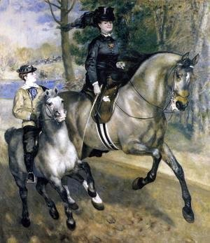 Pierre Auguste Renoir - Riding In The Bois De Boulogne Aka Madame Henriette Darras Or The Ride