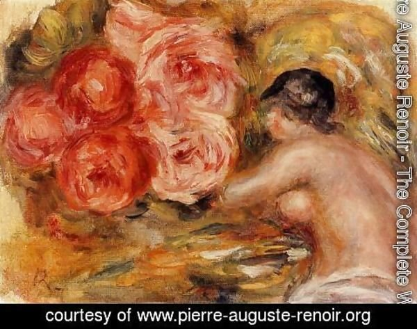 Pierre Auguste Renoir - Roses And Study Of Gabrielle
