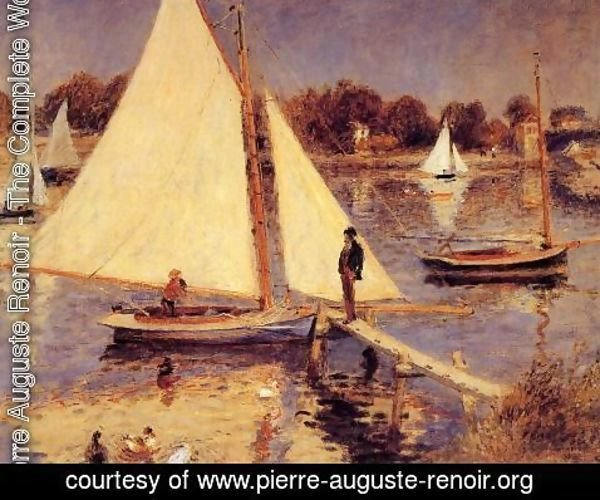Pierre Auguste Renoir - Sailboats At Argenteuil