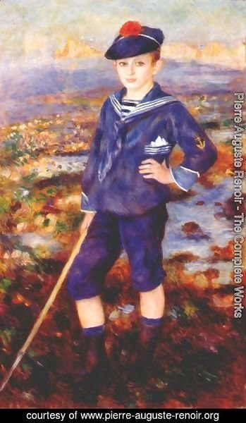 Pierre Auguste Renoir - Sailor Boy Aka Portrait Of Robert Nunes