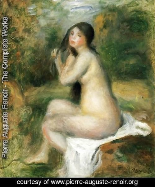 Pierre Auguste Renoir - Seated Bather 5