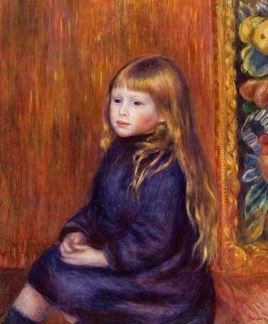 Pierre Auguste Renoir - Seated Child In A Blue Dress