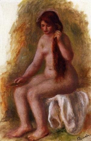 Pierre Auguste Renoir - Seated Nude Combing Her Hair