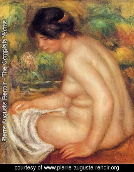 Pierre Auguste Renoir - Seated Nude In Profile Aka Gabrielle