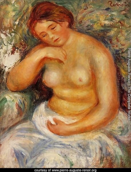 Seated Nude With A Bouquet
