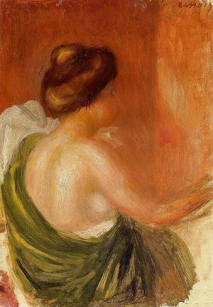 Pierre Auguste Renoir - Seated Woman In A Green Robe