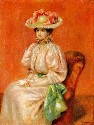 Pierre Auguste Renoir - Seated Woman With Green Sash