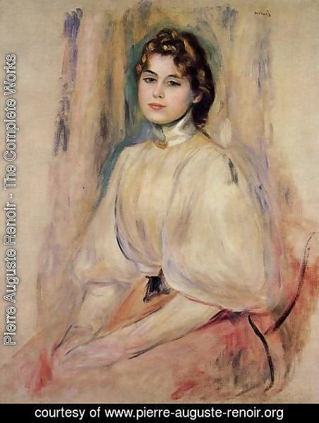 Pierre Auguste Renoir - Seated Young Woman
