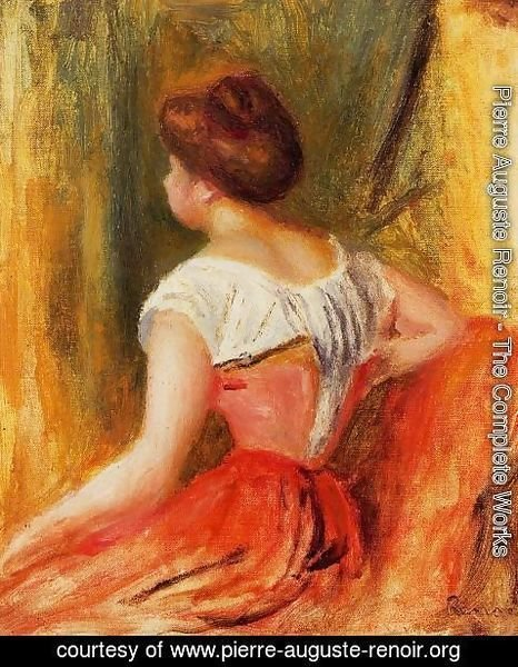 Pierre Auguste Renoir - Seated Young Woman2