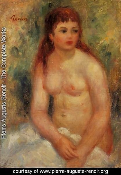 Pierre Auguste Renoir - Seated Young Woman  Nude