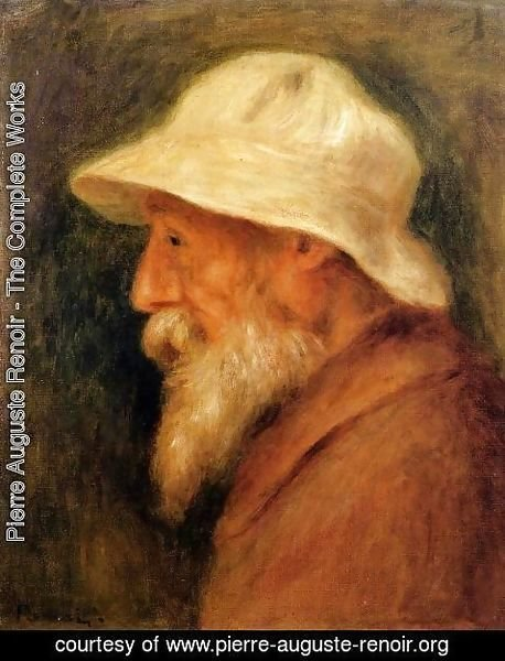 Pierre Auguste Renoir - Self Portrait With A White Hat