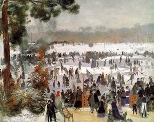 Pierre Auguste Renoir - Skaters In The Bois De Boulogne