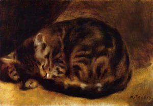Pierre Auguste Renoir - Sleeping Cat