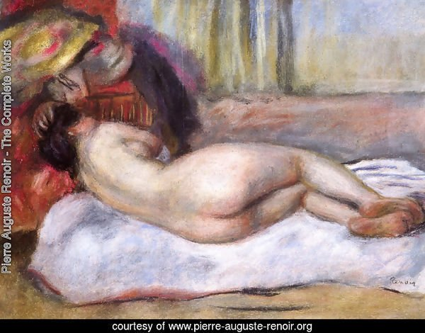 Sleeping Nude With Hat Aka Repose
