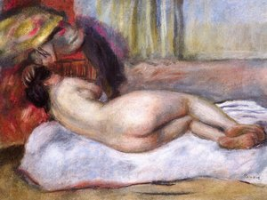Pierre Auguste Renoir - Sleeping Nude With Hat Aka Repose