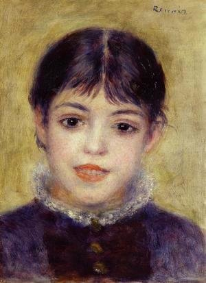 Pierre Auguste Renoir - Smiling Young Girl