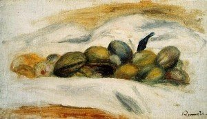 Pierre Auguste Renoir - Still Life   Almonds And Walnuts