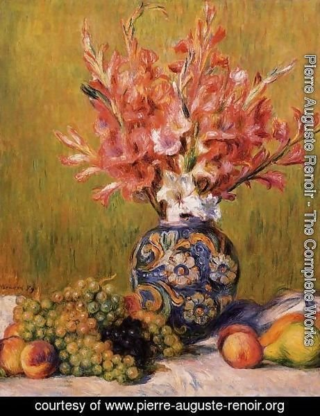 Pierre Auguste Renoir - Still Life   Flowers And Fruit