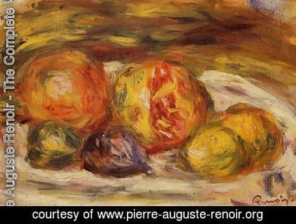 Pierre Auguste Renoir - Still Life   Pomegranate  Figs And Apples