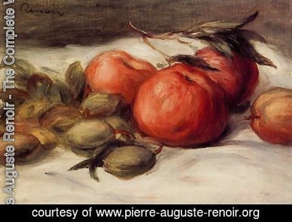 Pierre Auguste Renoir - Still Life With Apples And Almonds