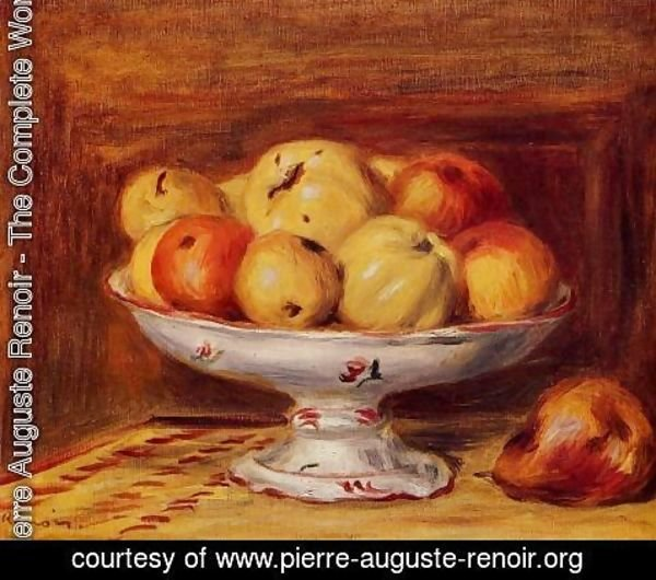 Pierre Auguste Renoir - Still Life With Apples And Pears
