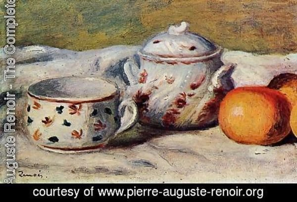 Pierre Auguste Renoir - Still Life With Cup And Sugar Bowl