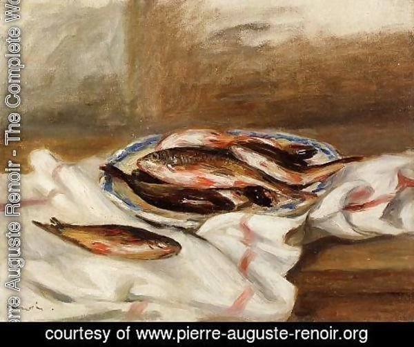 Pierre Auguste Renoir - Still Life With Fish