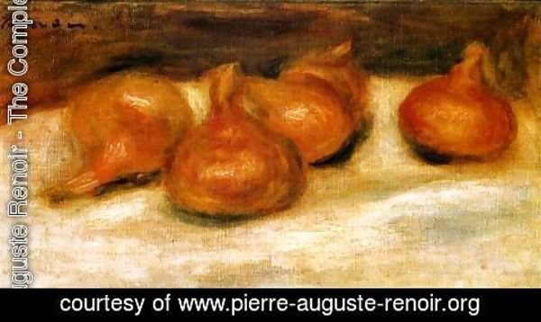 Pierre Auguste Renoir - Still Life With Onions