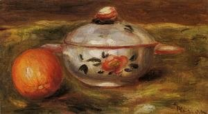 Pierre Auguste Renoir - Still Life With Orange And Sugar Bowl