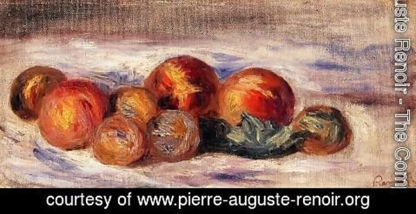 Pierre Auguste Renoir - Still Life With Peaches