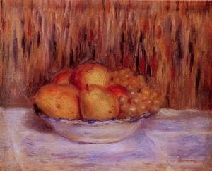 Pierre Auguste Renoir - Still Life With Peaches And Grapes