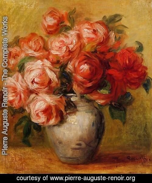 Pierre Auguste Renoir - Still Life With Roses2