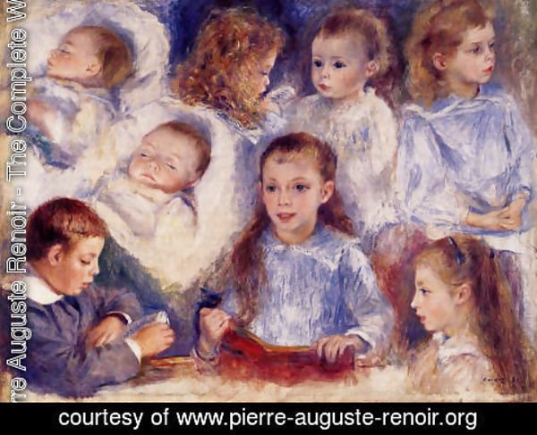 Pierre Auguste Renoir - Studies Of The Children Of Paul Berard