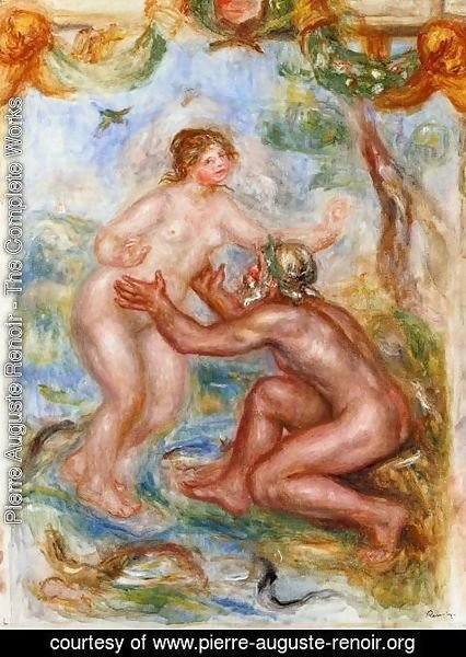 Pierre Auguste Renoir - Study For The Saone Embraced By The Rhone