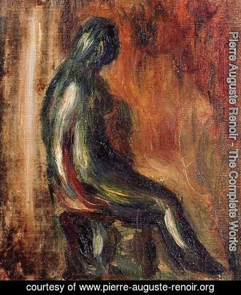 Pierre Auguste Renoir - Study Of A Statuette By Maillol