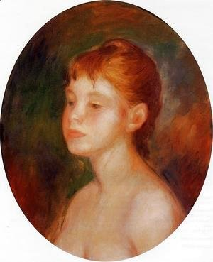 Pierre Auguste Renoir - Study Of A Young Girl Aka Mademoiselle Murer