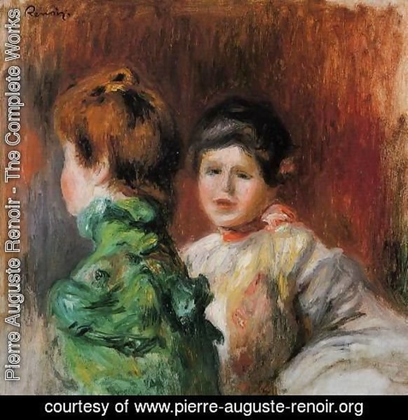 Pierre Auguste Renoir - Study Two Womens Heads