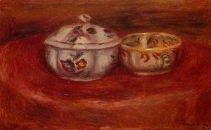 Pierre Auguste Renoir - Sugar Bowl And Earthenware Bowl