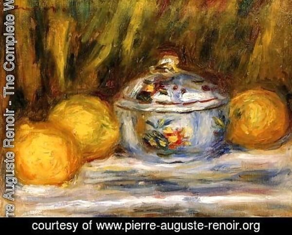 Pierre Auguste Renoir - Sugar Bowl And Lemons