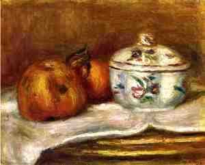 Pierre Auguste Renoir - Sugar Bowl  Apple And Orange
